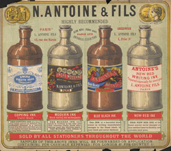 Advert for N Antoine & Fils, ink